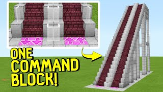 How To Make An Escalator In Minecraft Bedrock Edition  One Command Block