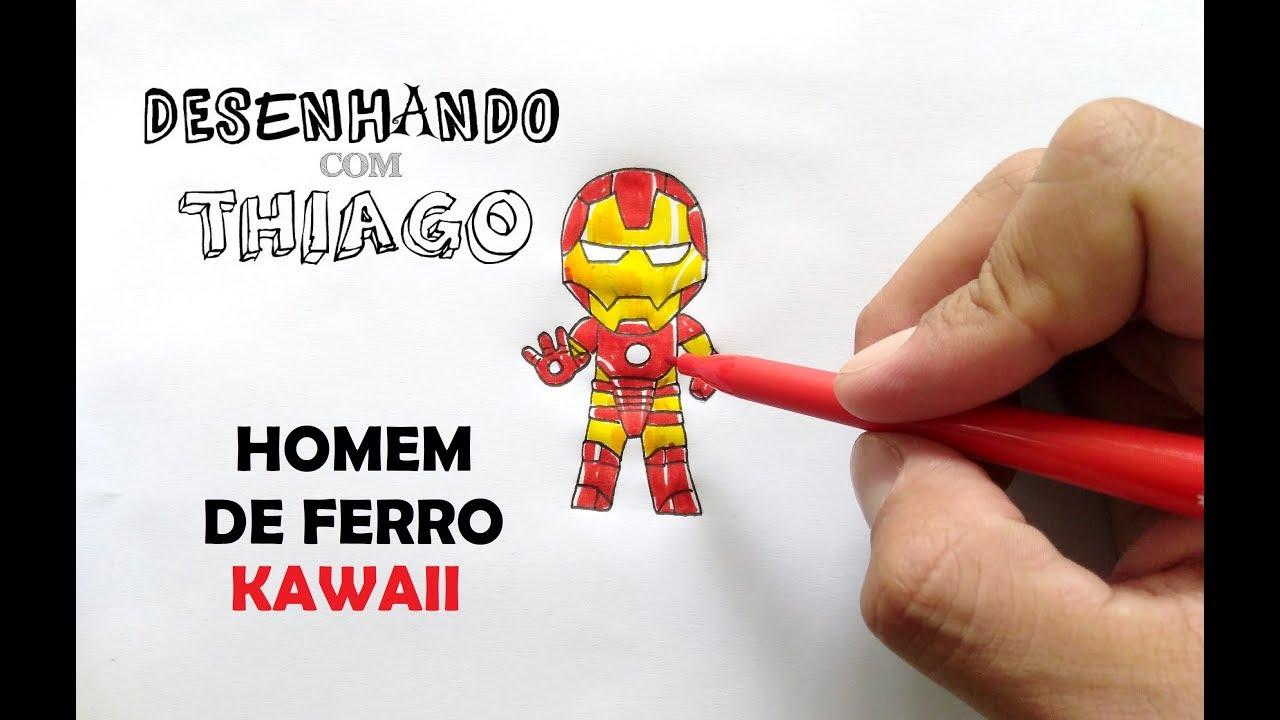 Homem De Ferro Kawaii Desenhando Com Thiago 188