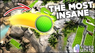 THE MOST INSANE MINI GOLF SHOT EVER!!! HOLE IN ONE?? -- Tower Unite Mini Golf With Friends