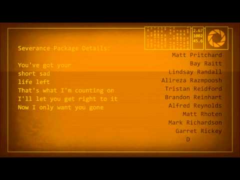 Клип GLaDOS - GladOS - Want you gone