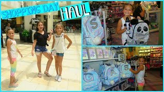 "SHOPPING BACK TO SCHOOL /HAUL H&M /THE CHILDREN PLACE /JUSTICE  ""ALISSON&EMILY"""