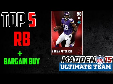 MUT 15 - Top 5 RB - Madden 15 Ultimate Team