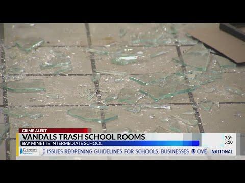 Vandalism at Bay Minette Elementary School