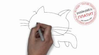 Коты картинки нарисованные  Как нарисовать кота(Как нарисовать кота поэтапно простым карандашом за короткий промежуток времени. Видео рассказывает о том,..., 2014-06-27T06:36:12.000Z)