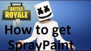 Comment obtenir MarshMello Spray Paint à Fortnite!