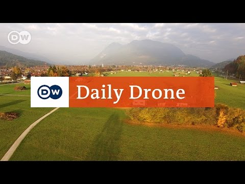 #DailyDrone: Historical town center of Partenkirchen