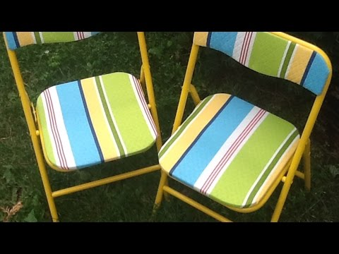 How To Create A New Look For Folding Chairs - DIY Home Tutorial - Guidecentral