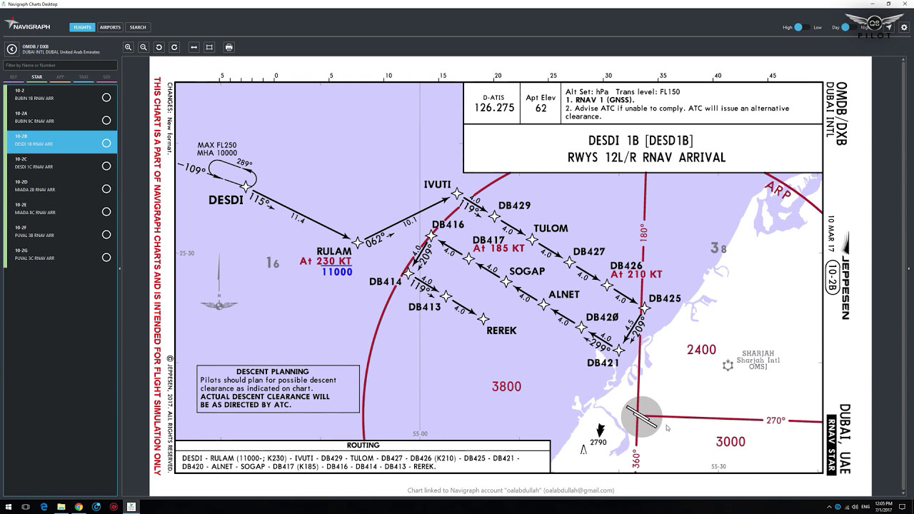 How To Use Skyvector For Ifr Flight Planning With Sids And Stars  Q8pilot  16:01 HD