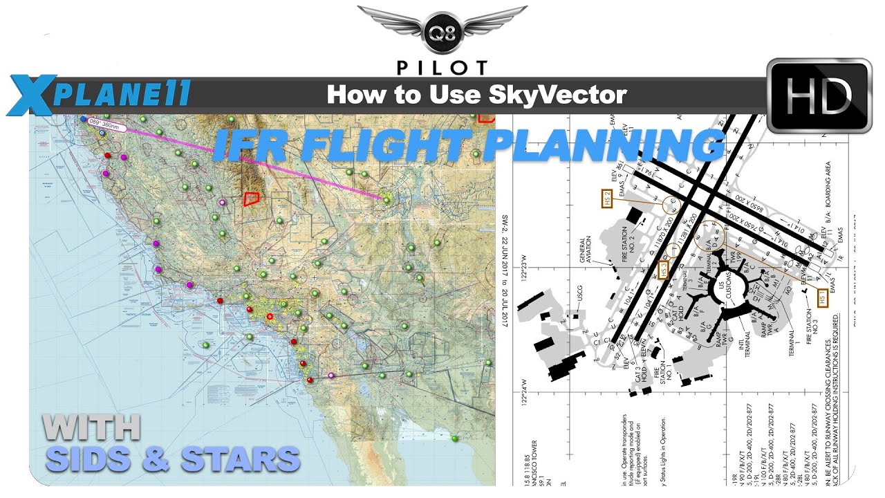 Skyvector flight vfr planning - How To Use Skyvector For Ifr Flight Planning With Sids And Stars