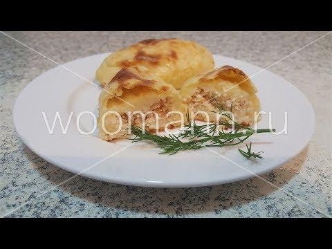 Зразы из картофеля с фаршем в духовке
