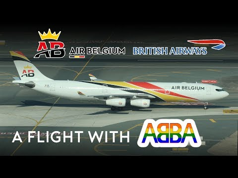 A Flight with ABBA! Air Belgium - British Airways A340