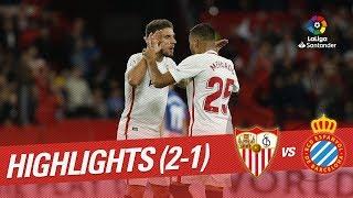 Resumen de Sevilla FC vs RCD Espanyol (2-1)