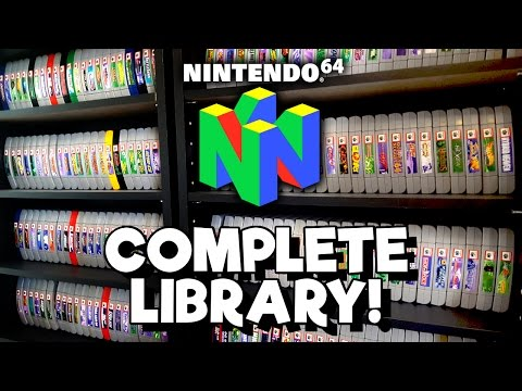 COMPLETE N64 Collection! Every game released in the US!