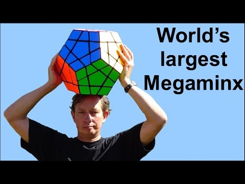 Largest Megaminx Puzzle in the world by Tony Fisher (who else?)
