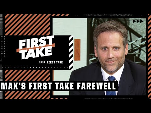 First Take bids farewell to Max Kellerman on his final show