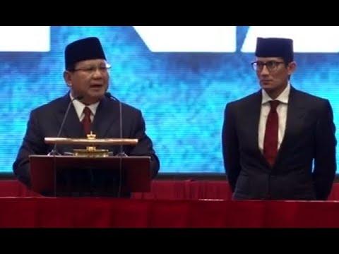 """Kenali Lima Visi Misi """"Indonesia Menang"""" Prabowo-Sandi"""