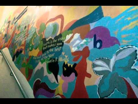 Aksi gerakerja kempen jom naik tangga lukisan dinding for Contoh lukisan mural tadika