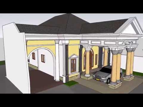 Desain dan Mode Desain rumah  minimalis klasik mewah 1 lantai (FULL denah dan tampak)