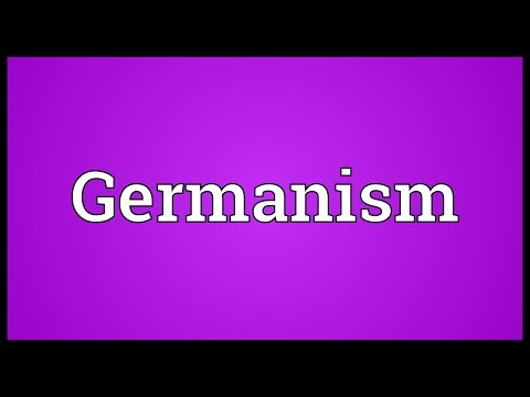 Header of Germanism