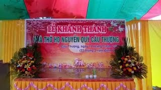 Dong ho Nguyen Quy cau thuong - Le cat bang khanh thanh nha tho Tổ. p1