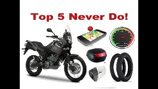 Gambar cover Top 5 Things You Should Never do on a Long Motorcycle Trip!