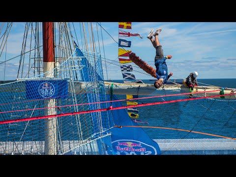Slacklining Over an Old Sailing Ship | Red Bull Slackship 2016