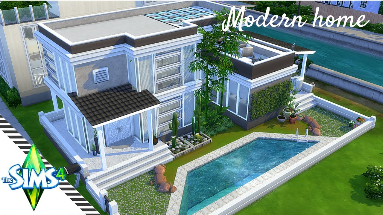 The Sims 4 Speed Build Modern One Bedroom House Plan Youtube