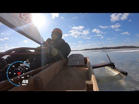 Iceboating at Bush River Yacht Club