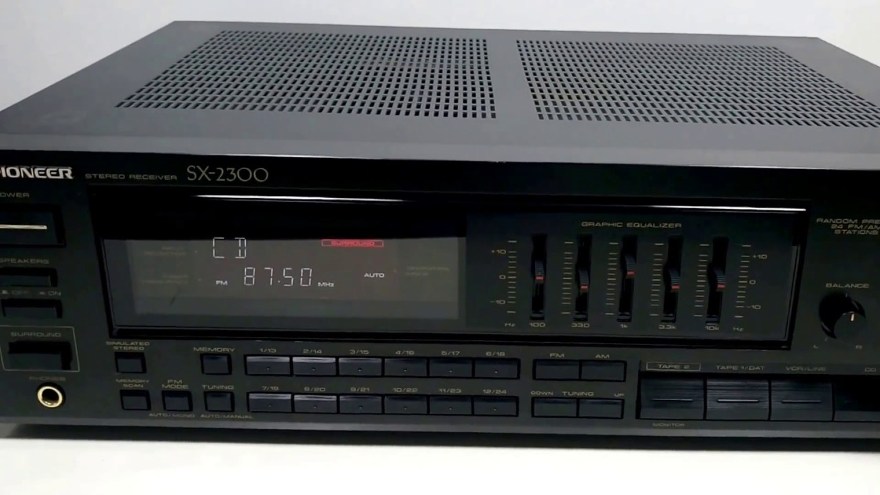Pioneer sx-2600 manual stereo am/fm receiver hifi engine.