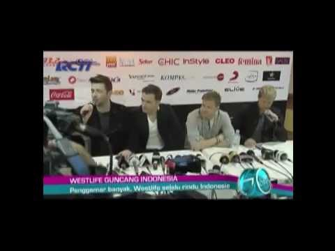Westlife's Press Conference in Jakarta for Gravity Tour (as seen on Go Spot)