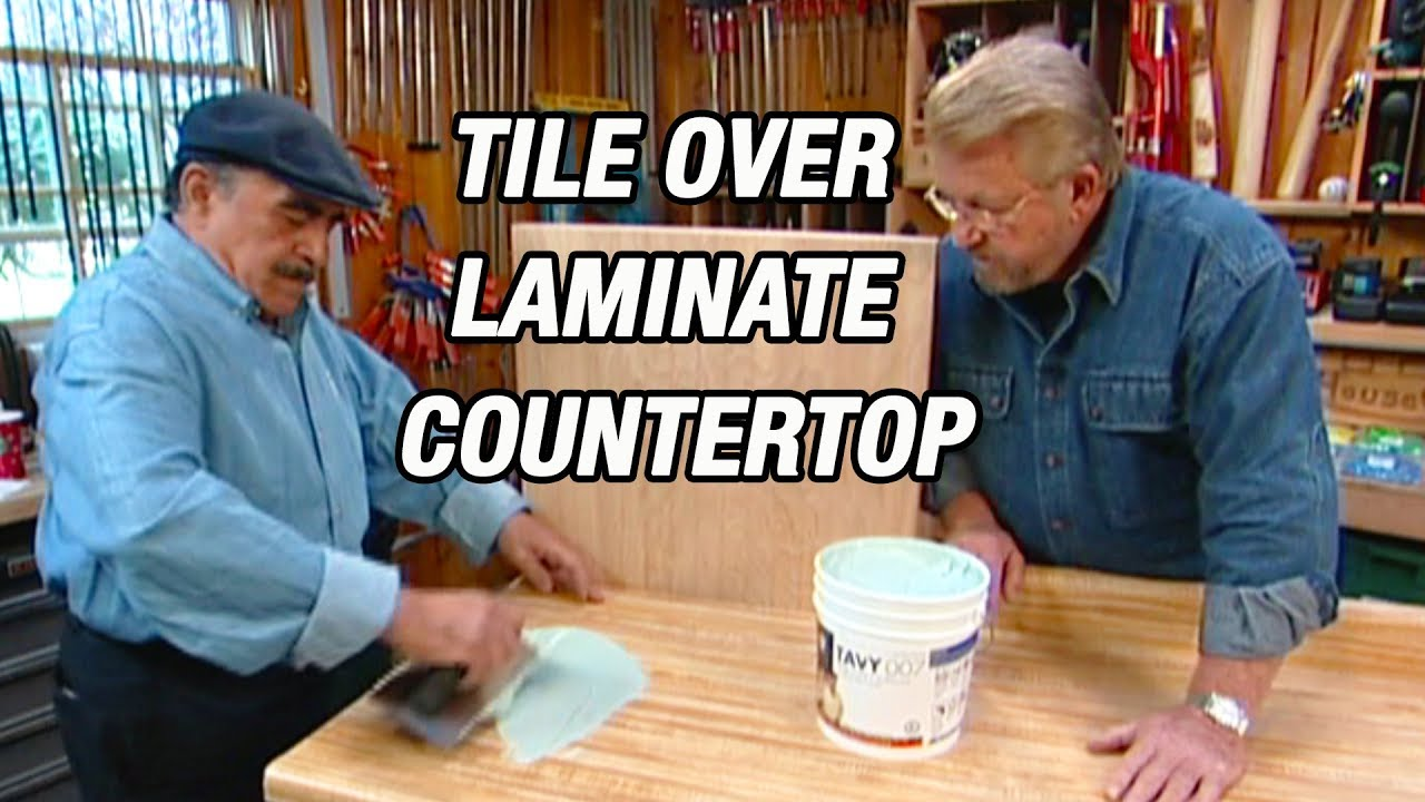 How To Lay Tile Over Laminate Countertop Youtube