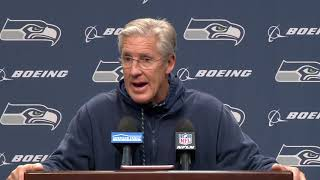Seahawks Head Coach Pete Carroll Week 15 Wednesday Press Conference