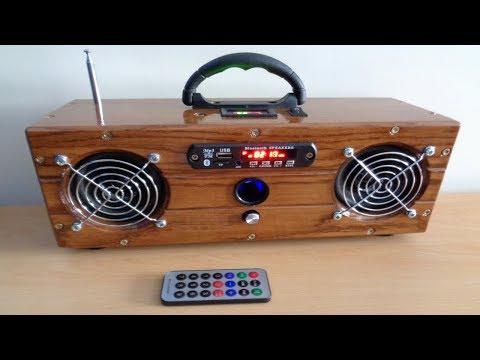DIY: Wooden Bluetooth Boombox