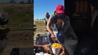DJ Sbu & his crew of African brothers feed the homeless in Downtown Johannesburg.