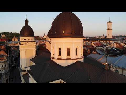 Lvov (Lviv) Ukraine - 2019 - Drone View
