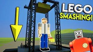 MASSIVE LEGO HAMMER SMASHES LEGO BUILDING! - Brick Rigs Gameplay Creations - Lego Toy Destruction