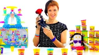 Весёлая Школа с Плей До. Play Doh мороженое. Видео с Машей(Развивающее видео шоу для детей Веселая Школа! Сегодня Маша со своими куклами будет угадывать картинки..., 2015-11-20T06:34:05.000Z)