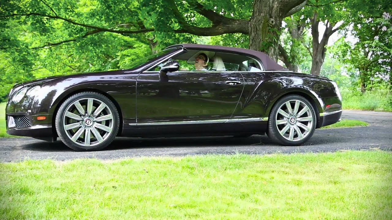 Jean\'s Driveway: 2013 Bentley Continental GTC V8 - YouTube