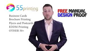 Free Design Proof and Pay Later option for Cheap Printing Products at 55printing.com