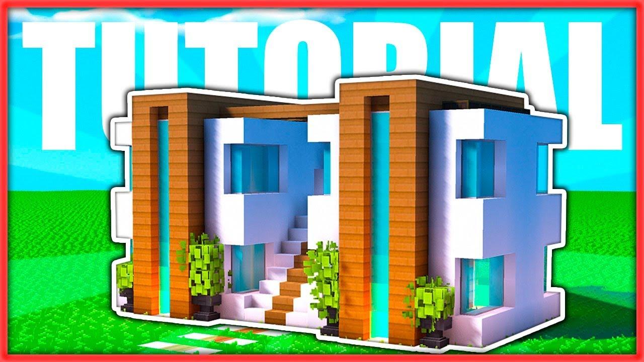 C mo hacer una casa moderna doble f cil en minecraft for Casa moderna y pequena en minecraft