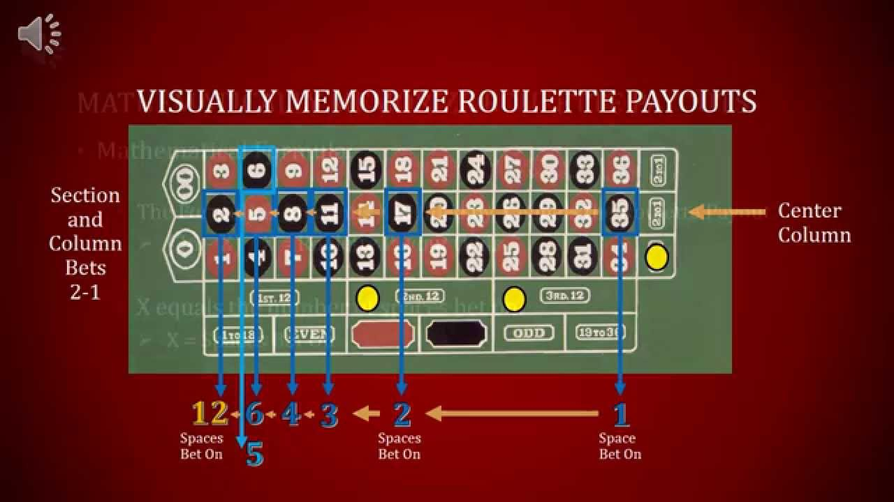 roulette bet payouts