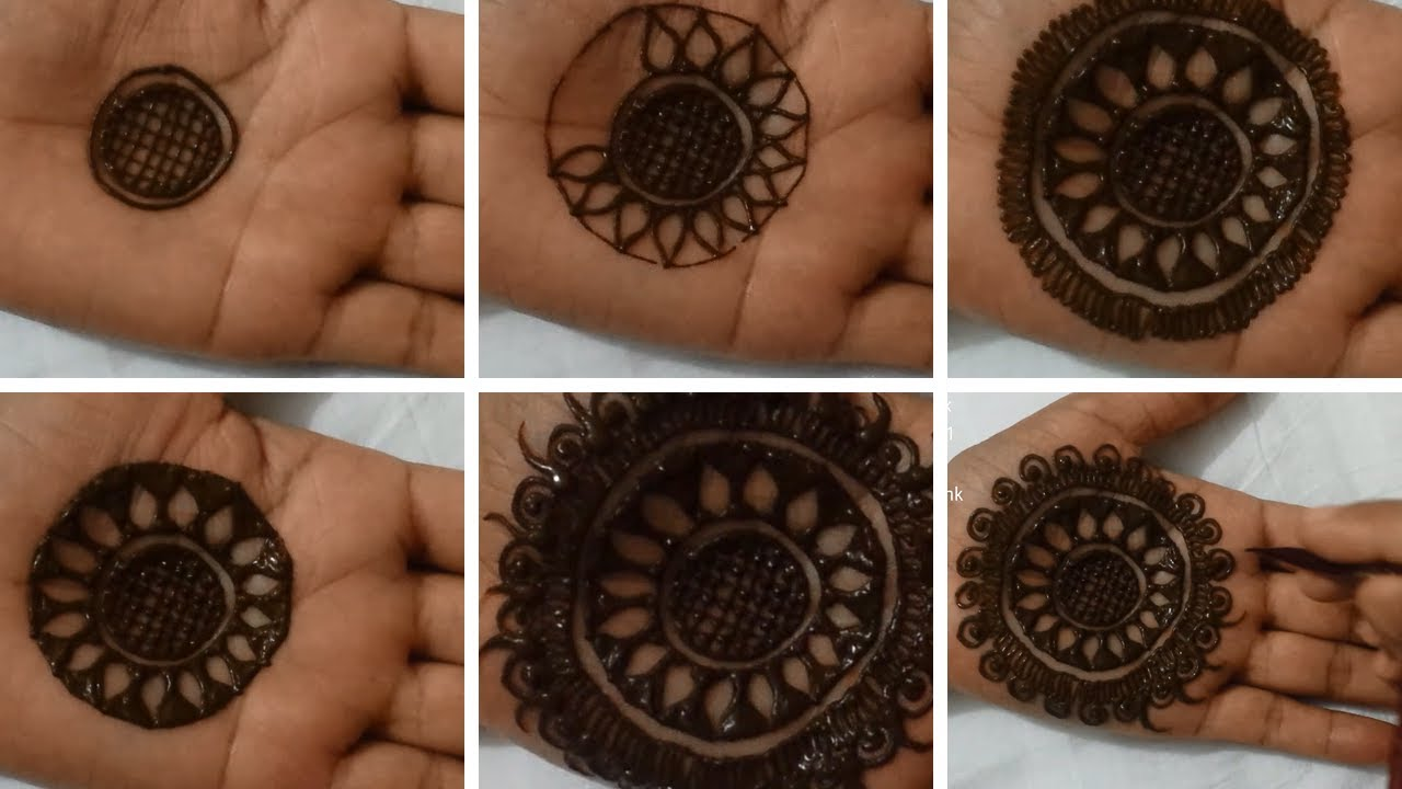 Easy Round Mehendi Design That You Can Try At Home