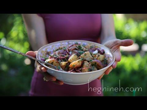 Vinegar Potato Salad Recipe - Armenian Cuisine - Heghineh Cooking Show