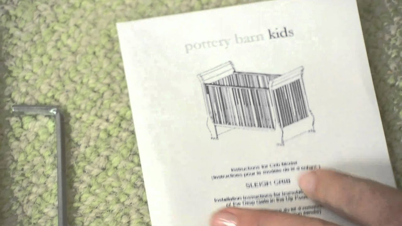 How to Install DropSide Crib Conversion Kit A  Pottery Barn Kids  YouTube