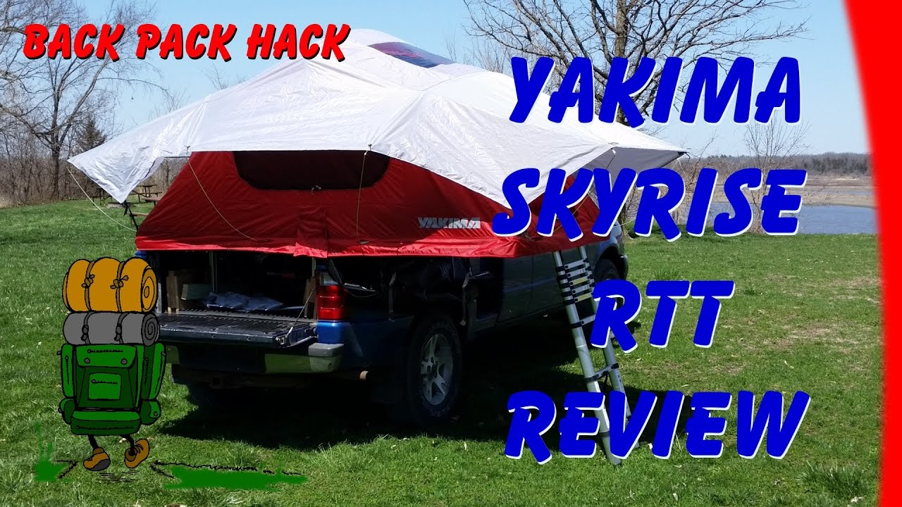 Yakima Skyrise (Medium) RTT Roof Top Rooftop Tent Review & Yakima Skyrise (Medium) RTT Roof Top Rooftop Tent Review - YouTube