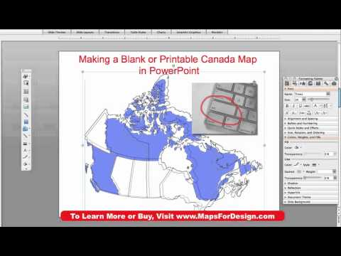 How To Make A Blank, Printable, Canada Map Using PowerPoint • MapsForDesign.com