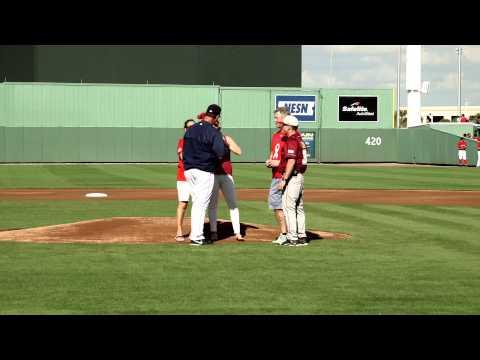 Boston College Eagles vs Boston Red Sox Frates Ceremony
