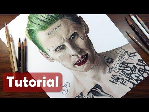 Cómo Dibujar Al Guason Suicide Squad Jared Leto How To Draw The Joker