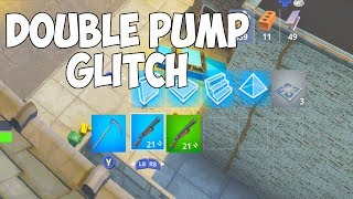 I tried using a DOUBLE PUMP glitch in Fortnite Season 6 and this happened..