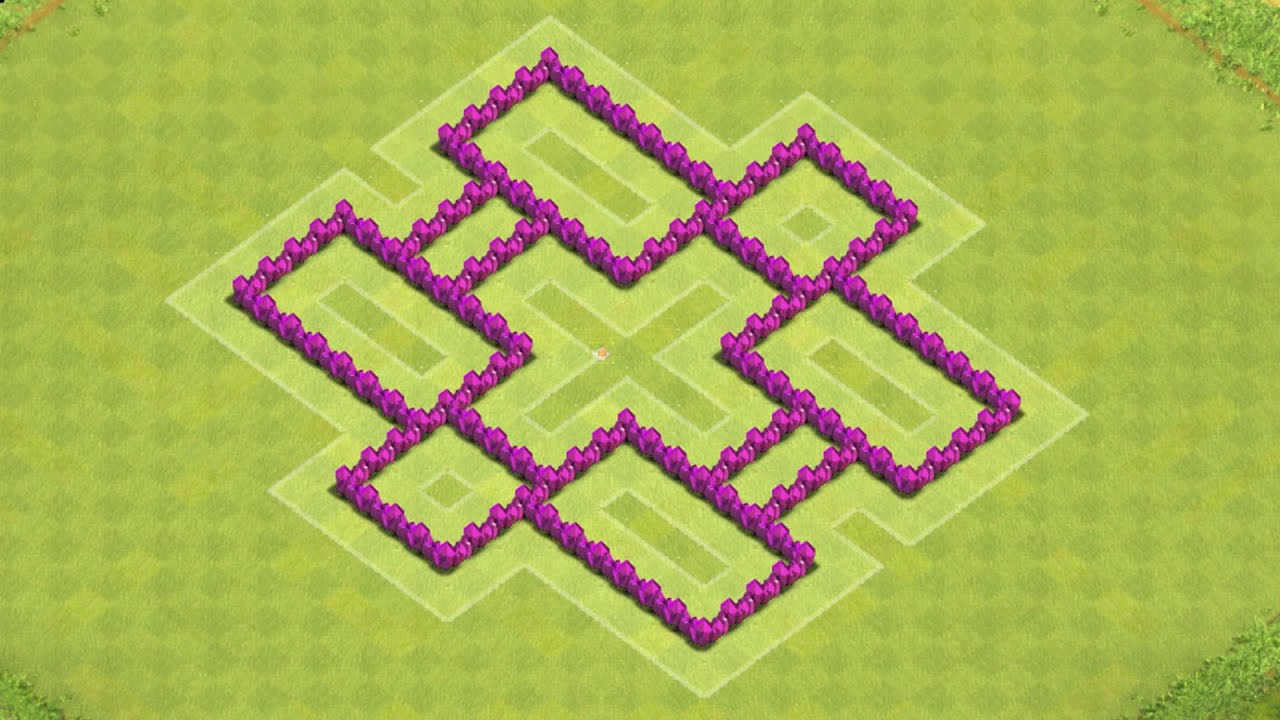 Base farming layout th6 by spikerush base farming layout th6 by - Clash Of Clans Town Hall 6 Defense Coc Th6 Best Farming Base Layout Defense Strategy